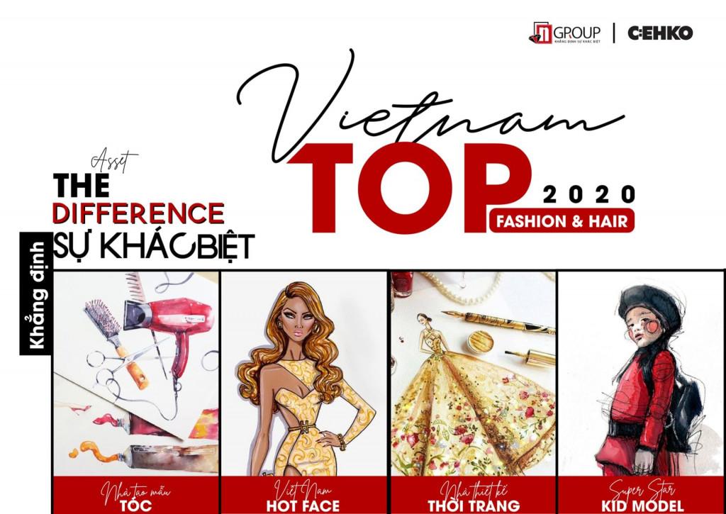 """C:EHKO đánh dấu 10 năm thành lập với Cuộc thi """"VIETNAM TOP FASHION & HAIR 2020"""